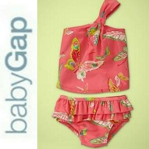 Baby GAP One Shoulder Butterfly 2 Piece Swimsuit